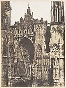 Haut de Portail, Côté de la Place, Cathédrale de Rouen