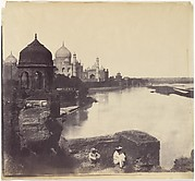 [The Taj Mahal from the Banks of the Yamuna River]