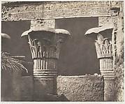 Esneh (Latopolis), Construction Ensablée - Architrave, Fûts et Chapiteaux