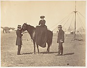 [Lady Canning on her Black Arab and Lord Clyde, Commander in Chief]