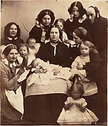 Mr. and Mrs. R. B. Tennent, Mrs. E. H. Yates, Mrs. Brandram, their Children and Three Nurses