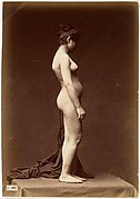 [Young Woman, Nude, Full Figure in Profile]