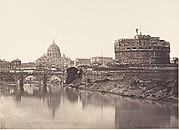 Veduta di Castel St Angelo. S. Pietro