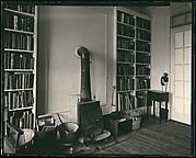 [Interior View of Walker Evans's Apartment at 441 East 92nd Street Showing Fireplace and Library, New York City]