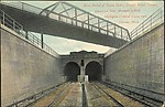West Portal of Twin Tubes, Detroit River Tunnel, though which Michigan Central trains run, Detroit, Mich.