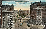 Broadway and Amsterdam Avenue.  North from 70th Street, New York City.