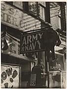 [Army Navy Storefront, New York]
