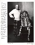 [Picasso with a Sculpture from the New Hebrides, Given to Him by Matisse, Cannes]