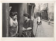 [Two Women Talking in Doorway, Paris]
