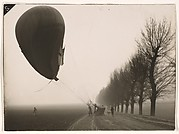 [Hot-Air Balloon Landing on a Country Road]