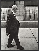 [Elderly Man Walking on Sidewalk, New York City]