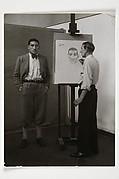 Der Maler Heinrich Hoerle portraitiert den Boxer Hein Domgörgen