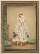 [La Comtesse in robe de piqu or as Judith (?)]