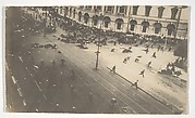 [Government Troops Firing on Demonstrators, Corner of Nevsky Prospect and Sadovaya Street, St. Petersburg, Russia]