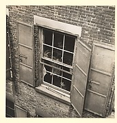 [Looking into Window of Garment Factory, New York]