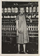 Addie Card, 12 years. Spinner in North Pownal Cotton Mill. Girls in mill say she is ten years. She admitted to me she was twelve; that she started during school vacation and now would