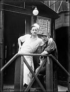 [Short Order Cook and Worker in Lunchroom Doorway on Second Avenue, New York City]