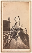 [Young Woman with Beckers Tabletop Stereoscope]