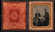[Union Soldiers Sitting on Bench, Playing Cards]
