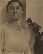Georgia O'Keeffe with Matisse Sculpture