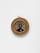 [Presidential Campaign Medal with Portraits of  Abraham Lincoln and Andrew Johnson]