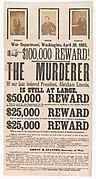 [Broadside for the Capture of John Wilkes Booth, John Surratt, and David Herold]