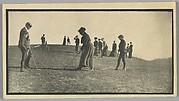 [Students and Teachers Playing Golf on Thomas Ridge near Hillside Home School, Spring Green, Wisconsin]