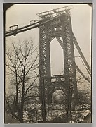 [George Washington Bridge, Under Construction, New York]