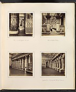 [View Across the Egyptian Court; View through Egyptian Columns into Classical Sculpture Gallery; Side View of Egyptian Colonnade; Facade of the Hall of Columns]