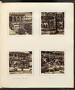 [Elevated View of Egyptian Court; Ninevah Court; Monti's Fountain, and Nineveh Court; Assyrian Court with Workers]
