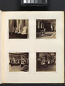 [Greek Court with Farnese Torso of a Youth; View of a Classical Fountain and Pool; Roman Gallery with Apollo Belvedere and Model of the Roman Forum; Roman Sculpture Court]