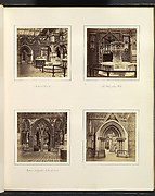 [Medieval Court; The Walsingham Font; Entrance to English Medieval Court]