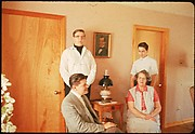 [18 Group Portraits of Unidentified Family in Domestic Interior for Time-Life Assignment,