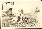 [Dog, Possibly Belonging to Hanns Skolle, on Lawn in Front of House]