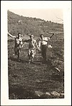 [Walker Evans, Georgette Maury, and André Maury Running in Field, Juan-les-Pins, France]