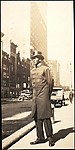 [Top Hatted Man on Sidewalk, Possibly Doorman or Porter, New York City]