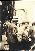 [Paul Grotz, Wearing Hat and Checked Coat in Crowd on Street, New York City]