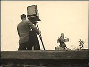 [Walker Evans Working View Camera in St. Michael's Cemetery, Bethlehem, Pennsylvania]