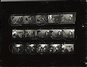 [Contact Sheet of 35mm Negatives: James Agee and Eleanor Clark in Conversation at Party]
