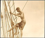 [Walker Evans Climbing Ship's Mast, South Seas Trip]