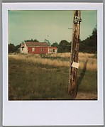 [Telephone Pole and Red Barn]