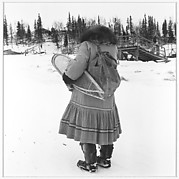 [Woman with Snowshoes]