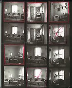 [7 Original Contact Sheets of Interior Details in Walker Evans's Apartment]