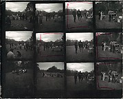 [Original Negative Sleeves and Contact Sheet of Yale School of Art Barbecue]