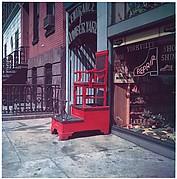 [Sidewalk Shoeshine Chair, 347 East 86th Street, New York City]