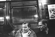 [Subway Passengers, New York City: Man and Two Women]