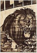 [Torn Circus Poster: Lion]