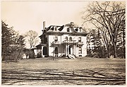 [Second Empire House with Bell-Shaped Pediment, From Across Lawn]