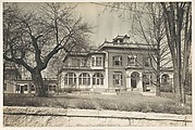 [Italianate Revival House with Enclosed Porches, Brookline, Massachusetts]