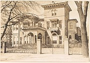 [Italianate Revival House Behind Iron Gate, Brookline, Massachusetts]